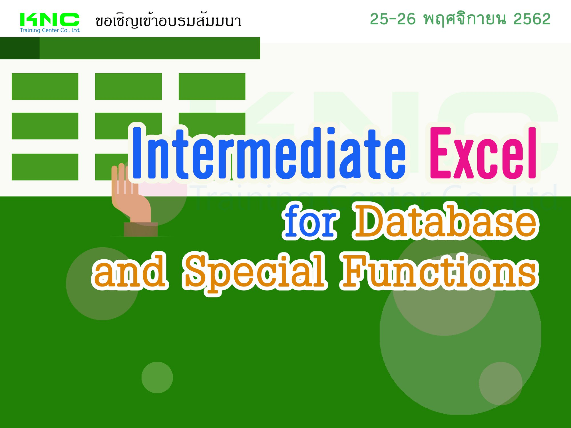 Microsoft Excel for Database & Special Functions